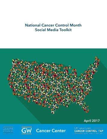 National Cancer Control Month Social Media Toolkit