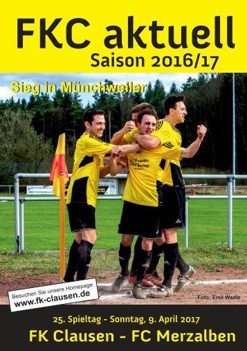 FKC Aktuell - 25. Spieltag - Saison 2016/2017