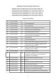CRIMINAL PRACTICE DIRECTIONS 2015