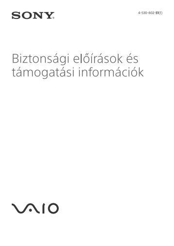 Sony SVF1532A4E - SVF1532A4E Documents de garantie Hongrois