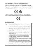 Sony SVF1532A4E - SVF1532A4E Documents de garantie Hongrois - Page 5