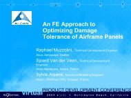 An FE Approach to Optimizing Damage Tolerance of - MSC Software