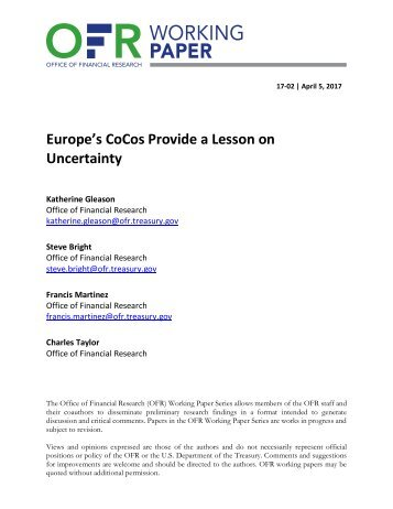 Europe's CoCos Provide a Lesson on Uncertainty