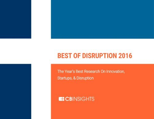 BEST OF DISRUPTION 2016