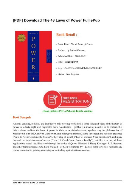 the 48 laws of power by robert greene free download