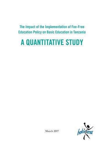 A QUANTITATIVE STUDY