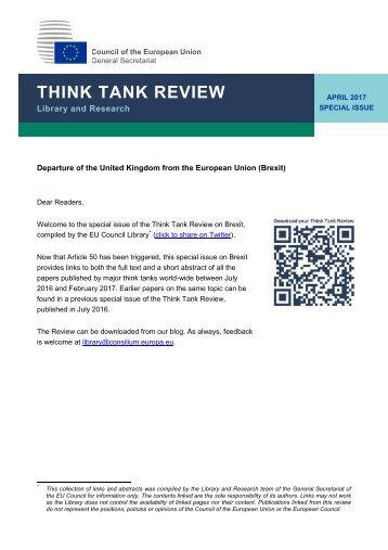 THINK TANK REVIEW