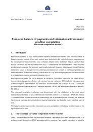 Euro area balance of payments and international investment position compilation