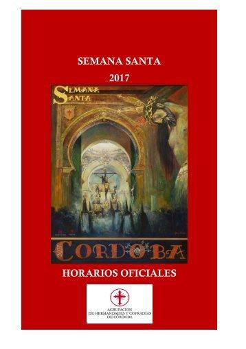 SEMANA SANTA 2017 HORARIOS OFICIALES