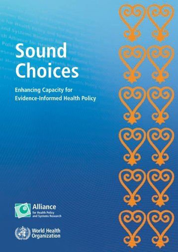 Sound choices: enhancing capacity for evidence-informed health