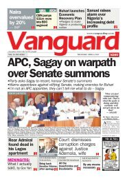 06042017 - APC, Sagay on warpath over Senate summons