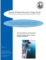 Journal of Student Research on Puget Sound - Science on Tap