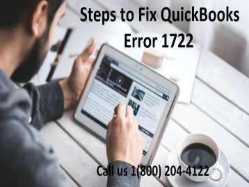 How to Resolve QuickBooks Error 1722? 18002044122