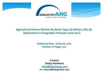 Agricultural Drones MarketAims To Make Africa Draught Free With Incorporation Of The Precision Drone