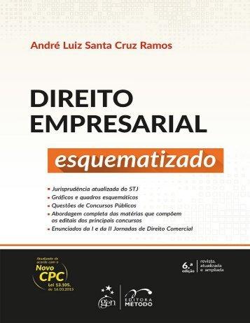 André Luiz Santa Cruz Ramos - Direito Empresarial Esquematizado - 2016