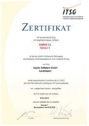 ITSG Zertifikat 15