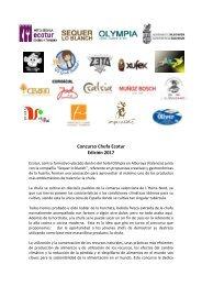 Concurso Chufa Ecotur Edición 2017
