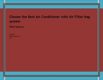 Choose the Best Air Conditioner with Air Filter bag system