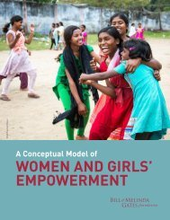 WOMEN AND GIRLS' EMPOWERMENT