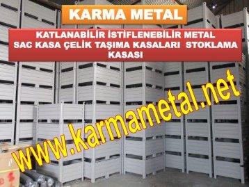 KARMA METAL-Istiflenebilir Metal Depolama Tasima Kasasi Avadanlik Metal Sac Kutu Tasima Kasalari
