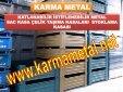 KARMA METAL-Istiflenebilir Metal Depolama Tasima Kasasi Avadanlik Metal Sac Kutu Tasima Kasalari - Page 6