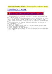 ACC 201 WORKSHOP FIVE DROPBOX 5.4 Performance Evaluation Handout - Indiana
