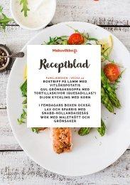 Makuviikko Receptblad 15 FAMILJ