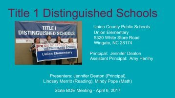 Title 1 Distinguished Schools