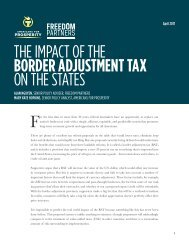 THE IMPACT OF THE BORDER ADJUSTMENT TAX ON THE STATES
