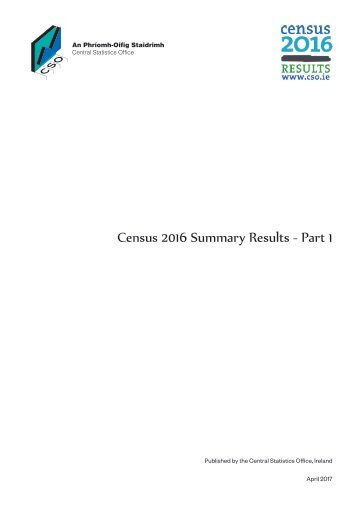 Census 2016 Summary Results - Part 1