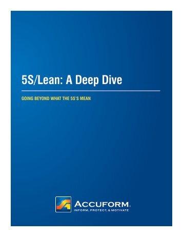 5S/Lean A Deep Dive