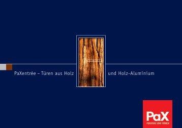 PaX Holz, Holz-Aluminium Haustüren