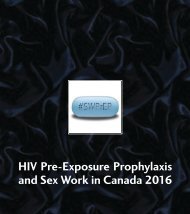 HIV Pre-Exposure Prophylaxis and Sex Work in Canada 2016