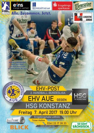 EHV Post: EHV Aue gegen HSG Konstanz
