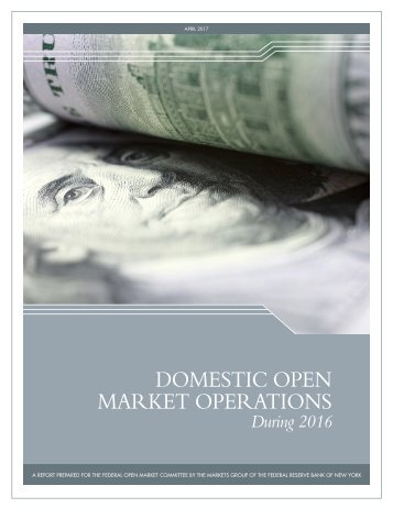 DOMESTIC OPEN MARKET OPERATIONS