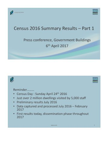 Census 2016 Summary Results – Part 1