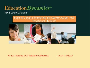 Building a Digital Marketing Strategy to Attract Post- Traditional Students