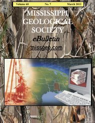 March 2012 - Mississippi Geological Society