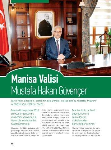 Manisa Valisi Mustafa Hakan Güvençer
