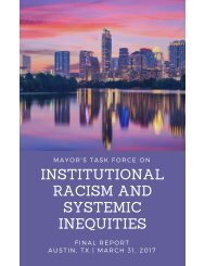 INSTITUTIONAL RACISM AND SYSTEMIC INEQUITIES