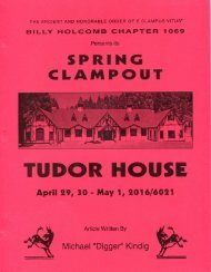 6021-2016 Spring Clampout Tudor House History