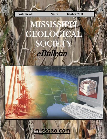 mgs 2010-2011 board of directors - Mississippi Geological Society