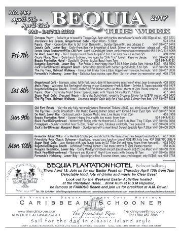Bequia this Week 07 April 2017