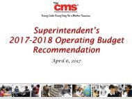 Superintendent's 2017-2018 Operating Budget Recommendation