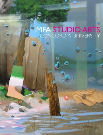 master of fine arts - Studio Arts - Concordia University