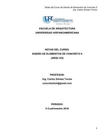 DISEÑO DE ELEMENTOS DE CONCRETO II (Parte 1)