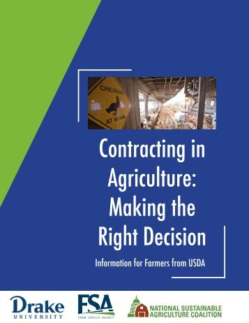 Contracting in Agriculture Making the Right Decision