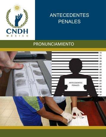 ANTECEDENTES PENALES PRONUNCIAMIENTO