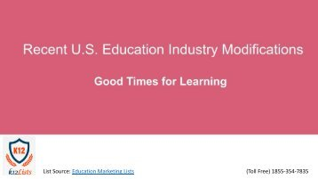 Recent Education Modifications in US