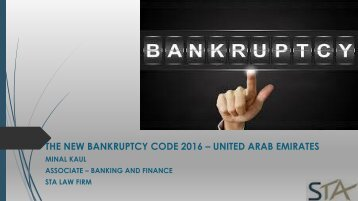 The Impact of New UAE Bankruptcy Code (Law Number 9 of 2016)